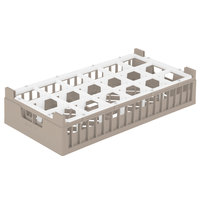 Vollrath 52825 Signature Half-Size Cocoa 18-Compartment 8 7/8 inch X-Tall Rack