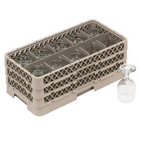 Vollrath HR1C1CA Traex® Half-Size Beige 10 Compartment 7 5/16 inch Tall Glass Rack