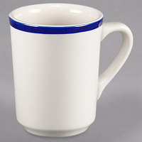 Homer Laughlin 1305083 Shamrock and Cobalt 8.25 oz. Rolled Edge Denver Mug - 36/Case