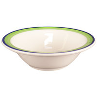 Homer Laughlin 1705083 Shamrock and Cobalt 9 oz. Rolled Edge Grapefruit Bowl - 36/Case