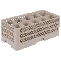 Vollrath HR1C1CC Traex® Half-Size Beige 10 Compartment 7 5/16 inch Tall Glass Rack