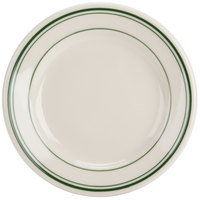 Homer Laughlin 2010001 Green Band Rolled Edge 6 1/4 inch Plate - 36/Case