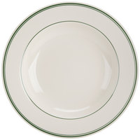 Homer Laughlin 3800001 Green Band Rolled Edge 20 oz. Pasta Bowl - 12/Case
