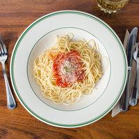 Homer Laughlin 3800001 Green Band Rolled Edge 20 oz. Pasta Bowl - 12/Case