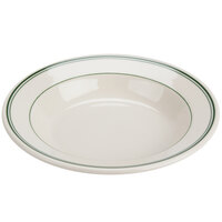 Homer Laughlin 2530001 Green Band Rolled Edge 12.75 oz. Soup Bowl - 24 / Case