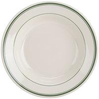 Homer Laughlin 2530001 Green Band Rolled Edge 12.75 oz. Soup Bowl - 24/Case