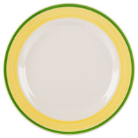 Homer Laughlin 2065078 Sunflower and Shamrock 9 5/8 inch Rolled Edge Plate - 24/Case