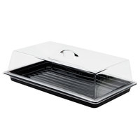 Sample and Display Tray Kit with Black Polycarbonate Tray and Acrylic Rectangular Cover