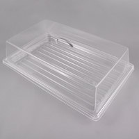 Sample and Display Tray Kit with Clear Polycarbonate Tray and Acrylic Rectangular Cover - 12 inch x 20 inch
