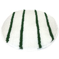 Scrubble by ACS 202-19 19 inch Carpet Bonnet with Green Scrubber Strips - 6/Case