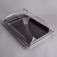 Sample and Display Tray Kit with Black Polycarbonate Tray and End Cut Cover - 12 inch x 20 inch