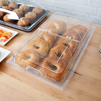 Sample and Display Tray Kit with Clear Polycarbonate Tray and Hinged Cover - 12 inch x 20 inch