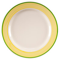 Homer Laughlin 2105078 Sunflower and Shamrock 12 1/4 inch Rolled Edge Plate - 12/Case