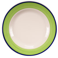 Homer Laughlin 2105083 Shamrock and Cobalt 12 1/4 inch Rolled Edge Plate - 12/Case