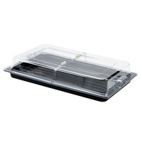 Sample and Display Tray Kit with Black Polycarbonate Tray and Hinged Cover