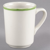 Homer Laughlin 1305078 Sunflower and Shamrock 8.25 oz. Rolled Edge Denver Mug - 36/Case