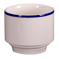 Homer Laughlin 6306031 Pristine with Kerry Cobalt Blue Rim 8 oz. China Bouillon - 36/Case