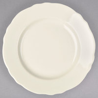 Homer Laughlin 58000 Carolyn 5 5/8 inch Scalloped Edge Ivory China Saucer - 36/Case