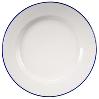 Homer Laughlin 6376031 Pristine with Kerry Cobalt Blue Rim 9 inch Round China Plate - 24/Case