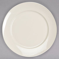 Homer Laughlin HL12112100 RE-21 11 1/2 inch Ivory (American White) China Plate - 12/Case