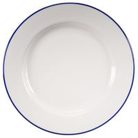 Homer Laughlin 6396031 Pristine with Kerry Cobalt Blue Rim 10 5/8 inch Round China Plate - 12/Case