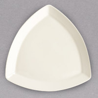 Homer Laughlin HL58500 Unique Times Square 12 inch Ivory (American White) Triangle China Plate - 12/Case