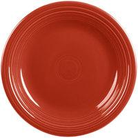 Homer Laughlin 466326 Fiesta Scarlet 10 1/2 inch Plate - 12/Case