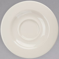 Homer Laughlin 2868000 Seville 5 5/8 inch Ivory (American White) China Saucer   - 36/Case