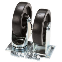 Anets B39021176 5 inch Rigid Plate Casters   - 2/Set