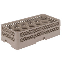 Vollrath HR1FF Traex® Half-Size Beige 17 Compartment 5 1/2 inch Tall Glass Rack