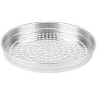 American Metalcraft SPHA5107 5100 Series 7 inch Super Perforated Heavy Weight Aluminum Straight Sided Self-Stacking Pizza Pan