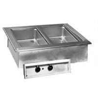 Delfield N8731-D Two Pan Drop In Hot Food Well