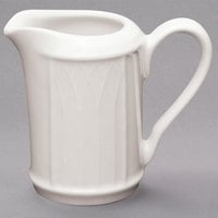 Homer Laughlin HL0397000 Gothic 3.25 oz. Ivory (American White) China Creamer - 36/Case