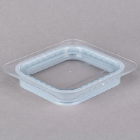 Cambro 60CWGL135 Camwear 1/6 Size Clear Polycarbonate GripLid