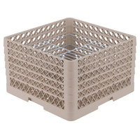 Vollrath PM2110-5 Traex® Plate Crate Beige 21 Compartment Plate Rack - Holds 9 3/16 inch to 10 inch Plates