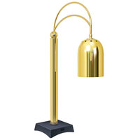 Hatco DCS400-1 Decorative Carving Station Lamp with Night Sky-Colored Base and Bright Brass Finish - 120V, 250W