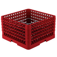 Vollrath PM1211-5 Traex Plate Crate Red 12 Compartment Plate Rack - Holds 9 3/16 inch to 10 3/4 inch Plates