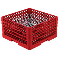 Vollrath PM3008-4 Traex® Plate Crate Red 30 Compartment Plate Rack - Holds 8 inch to 8 3/8 inch Plates