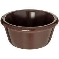 Carlisle S28669 6 oz. Smooth Chocolate Brown Melamine Ramekin - 48/Case