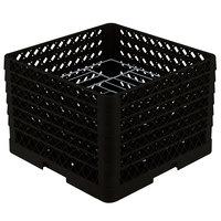 Vollrath PM1412-6 Traex Black 14 Compartment Plate Rack - 10 3/4 inch-12 5/16 inch