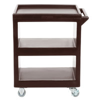 Cambro BC225131 Dark Brown Three Shelf Service Cart - 28 inch x 16 inch x 32 1/4 inch