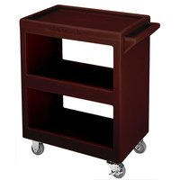 Cambro BC225131 Dark Brown Three Shelf Service Cart - 28 inch x 16 inch x 32 1/4 inch