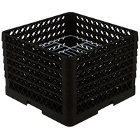 Vollrath PM1912-6 Traex Black 19 Compartment Plate Rack - 11 inch-12 inch