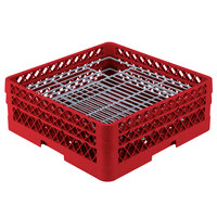 Vollrath PM4806-2 Traex Red 48 Compartment Plate Rack - 5 inch-6 inch