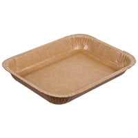 Solut 91136 8 1/2 inch x 6 inch Bake and Show Oven Safe Corrugated Paperboard Entree / Brownie Pan - 360/Case