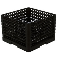 Vollrath PM1211-6 Traex® Plate Crate Black 12 Compartment Plate Rack - Holds 10 3/4 inch to 11 3/16 inch Plates