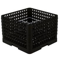 Vollrath PM1211-6 Traex Black 12 Compartment Plate Rack - 10 3/4 inch-11 3/16 inch