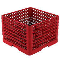 Vollrath PM0912-6 Traex Red 9 Compartment Plate Rack - 11 1/4 inch-12 1/2 inch