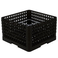Vollrath PM1211-5 Traex Plate Crate 1Black 12 Compartment Plate Rack - Holds 9 3/16 inch to 10 3/4 inch Plates
