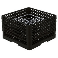 Vollrath PM2110-5 Traex® Plate Crate Black 21 Compartment Plate Rack - Holds 9 3/16 inch to 10 inch Plates